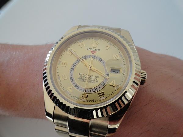 RelojesDeReplicas-Reloj-De-Oro-Amarillo-Rolex-Sky-Dweller