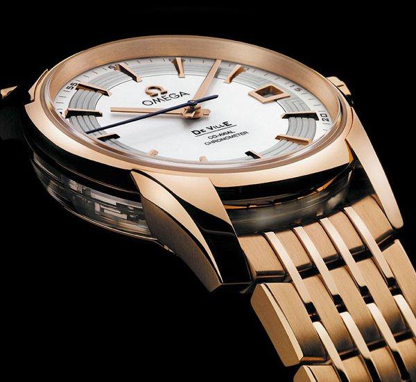 omega de ville hour vision replica reloj rojo oro